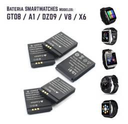 Baterias P Relógio Smartwatch Gt08, A1, Dz09, V8, X6