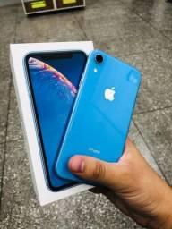 Título do anúncio: Apple iPhone XR azul 64g na caixa > garantia