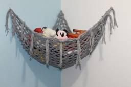 Rede organizador para guardar brinquedos