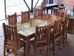 Conjunto mesa jantar 8 cadeiras