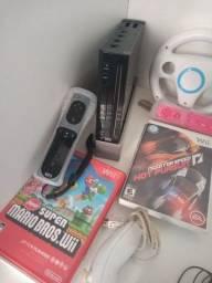 Nintendo Wii  completo, destravado .