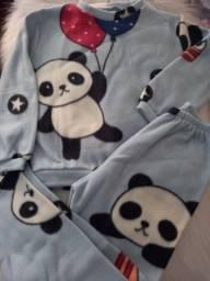 Conjunto pijama soft inverno infantil