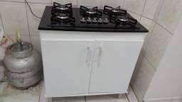 Fogão 5 bocas cooktop e balcão novos