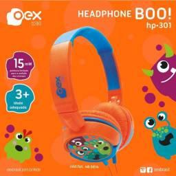 Headphone Fone Kids Criança Dino Azul E Laranja Hp301