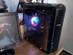 PC i3 de quarta geração, placa de vídeo, gabinete gamer grande, rgb com garantia.
