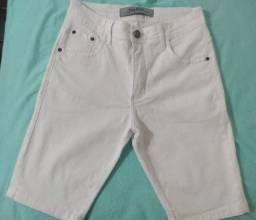 Short Jeans masculino branco zigurat novo