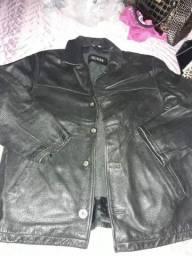 Jaqueta de couro legítimo ok preta