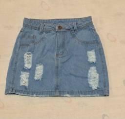 Saia jeans n36/38 FORMA GRANDE