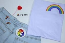 Título do anúncio: Camiseta - Arco-íris