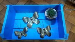 Jg borboletas em latão antiga