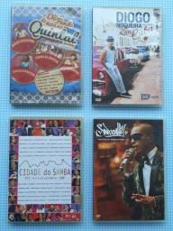 Combo DVDs Originais - Do Fundo do Quintal, Diogo Nogueira, Cidade do Samba e Sapucahy