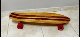 Skate longboard mais capacete e proteções