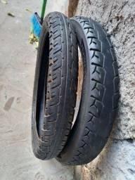 Vendo 2 pneu moto aro 18