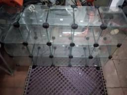 Baleiro de vidro c/15 casulos + cxs de halls/trident