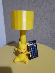 Abajur Pikachu Pokémon