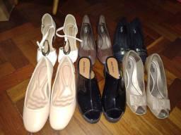 Lote 6 Sapatos Tam 39