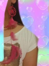 Brinco Mandala rosa