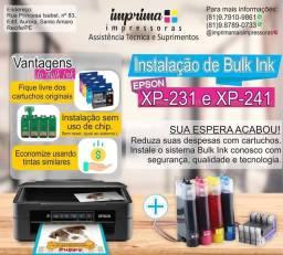 Instalação de Bulk ink