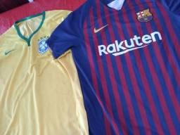 Camisa nike Seleção Brasileira 2014 e Barcelona 18/19 oficiais