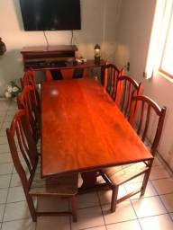 Jogo de mesa p/ copa cozinha c/ 6 cadeiras (Em 3 x no cartão)