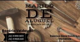 Marido de Aluguel, Carpinteiro, pedreiro, pintor, eletricista, jardineiro.