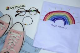 Título do anúncio: Camiseta - Seja Gentil Arco-íris