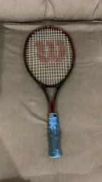 Raquete de tênis Wilson ,branca hybrid 5.3 ,preta tech court 4.8 sps