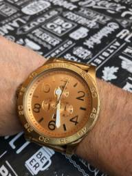 Relógio Nixon Original Dourado