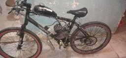 Vendo bicicleta motorizada motor 80 cc esta novinho o motor