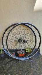 Rodas de bike speed 32f da Caloi Sprint 20 com cubos Novatec rolamentados