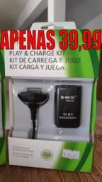 Kit Bateria para Controle de Xbox 360 (Com Cabo Usb)