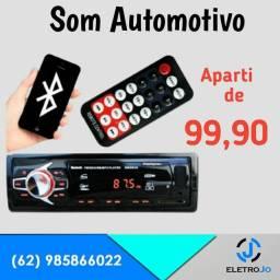 Som automotivo com Rádio Pen drive (( Entrego)) tenho com Bluetooth