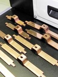 Máquina dobrar cortar barramento covre