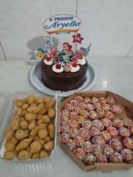 Kit festa bolo vulcão