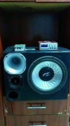 Caixa de som, com módulo e fonte