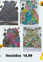 Título do anúncio: Vestidos novos Tam P 14,90