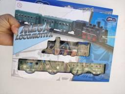 Pista trem mega locomotiva a pilhas