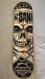 """Shape de Skate marfim 8"""" x 32,5"""" Caveira Novo"""