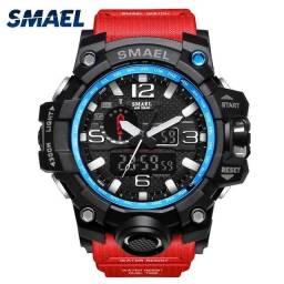 Relógio militar SMAEL (50M) Original - Vermelho