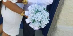Buquê de noiva em topiaria branco