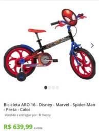 bicicleta caroi spider manaro 16 na preto