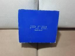 Caixa Original De Playstation 2 Fat Vazia ( Otimo Estado ).