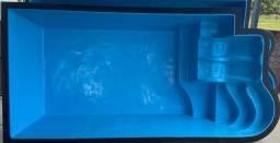 Js- Promoção  Piscina de Fibra lançamento  6,00 x 3,00 * lançamento  *com espreguiçadeira
