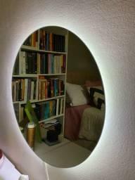 Espelho redondo com Fita de LED