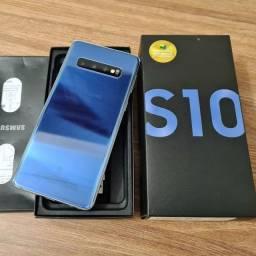 Samsung S10 azul 128gb novinho