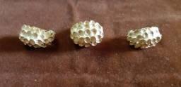 lindo conjunto de anel e brincos dourados