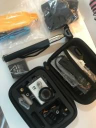 Kit câmera Eken H9r 4K + acessórios + maleta