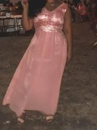 Vestido rosé,longo