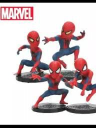 Boneco homem aranha Miniatura Kit 4 Spiderman