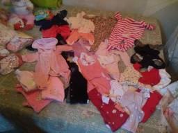 Lote roupas para bebê menina